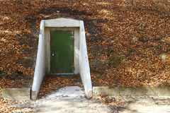 Bunker entrance Stock Image