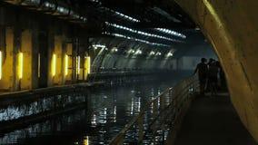 Bunker för ubåtar stock video