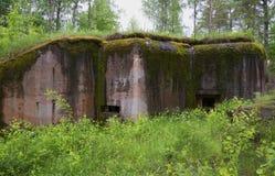 Bunker från världen kriger II Hanko Finland Arkivfoton