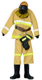 Bunker gear. Protective outerwear fireman on white background Stock Photography