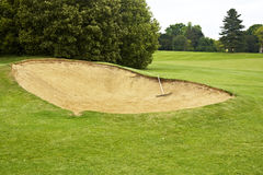 Bunker on golf course Stock Images