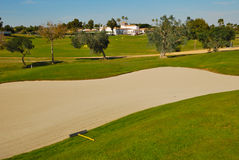 Bunker golf. Zaudin golf course, located  just a 10 minutes drive of the center of Seville, in the zone of the Aljarafe. It was designed by Gary Player Stock Images