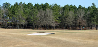 Bunker on golf course Royalty Free Stock Images