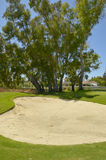 Bunker in golf course Royalty Free Stock Photo
