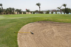 Bunker on a golf course Stock Image