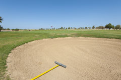 Bunker on a golf course Royalty Free Stock Photography