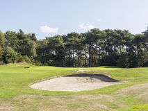 Bunker on golf course Stock Photos