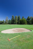 Bunker in a golf course. Stock Image