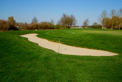 Bunker on a golf course Stock Photography