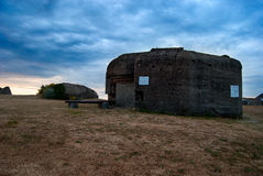 Bunker Granville. Military bunker in Granville, France Stock Photography