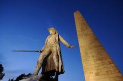 Bunker Hill纪念碑晚上 免版税库存照片