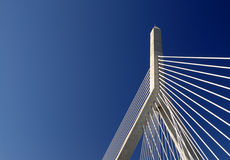 Bunker Hill Bridge Detail. Detail of Leonard P Zakim Bunker Hill Bridge in Boston, Massachusetts Stock Images