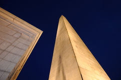 Bunker Hill Monument at Night Royalty Free Stock Photography