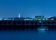 Bunker Hill Monument At Night stock photography
