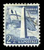 Bunker Hill US Postage Stamp Stock Photos