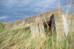 Bunker i Normandie arkivfoton