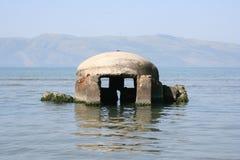 Bunker im Meer Lizenzfreies Stockfoto