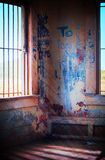 Bunker Interior with Graffiti Stock Images