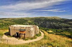 Bunker in Krkonose Stock Image