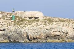 Bunker in Lampedusa Stock Image