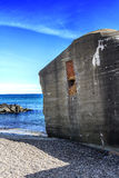 Bunker lying in Skagen, Denmark Royalty Free Stock Photography