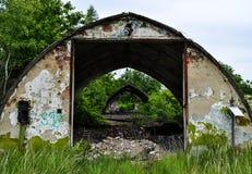 Bunker in Milovice - Tsjechische Republiek Stock Afbeelding