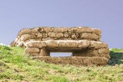 Bunker mit Schlupfloch Gräben des Todes im Großen Weltkrieg Dixmude Flandern Belgien Stockfotografie