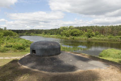 Bunker Narew flod, Lomza stad Royaltyfria Bilder