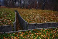 Bunker nella foresta fotografie stock