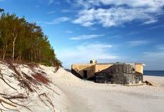 Bunker On Beach Stock Photo