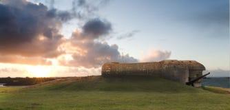 Bunker op de kust Stock Foto's