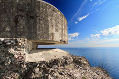Bunker over the sea Stock Photos