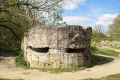 A Bunker pillbox on Hill 60 world war one Stock Image