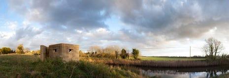 Bunker pillbox second world war Rye England stock photo