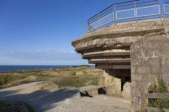Bunker in the Pointe du Hoc Royalty Free Stock Photos
