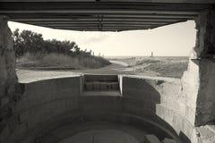 Bunker in the Pointe du Hoc Stock Image