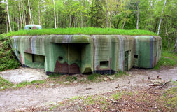 Bunker in poland Royalty Free Stock Photography