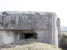 Bunker in Poland. Bunker (concrete) in Polana (Mława Royalty Free Stock Images