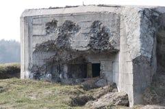 Bunker in Poland. Bunker (concrete) in Polana (Mława Royalty Free Stock Photos