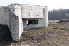 Bunker in Poland. Bunker (concrete) in Polana (Mława Royalty Free Stock Photo