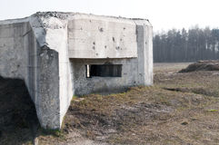 Bunker in Poland Royalty Free Stock Photo