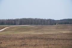 Bunker in Polen Stockbild