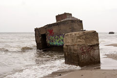Bunker remains Stock Photography