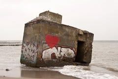 Bunker remains Stock Photos
