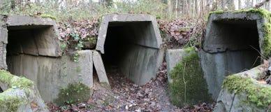 Bunker Ruins Panorama Royalty Free Stock Image