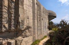 Bunker of the Second World War - Liguria Italy. Abandoned bunker of the Second World War (WWII) in the Gulf of La Spezia, Liguria, Italy Royalty Free Stock Photo