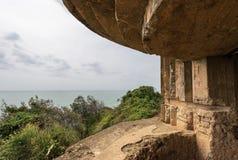 Bunker - secondo mondo Liguria guerra- Italia Immagini Stock Libere da Diritti