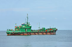 Bunker ship (fuel replenishment tanker) Stock Photo