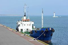 Bunker ship (fuel replenishment tanker) Royalty Free Stock Photography