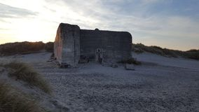 Bunker in Skagen Royalty Free Stock Photography